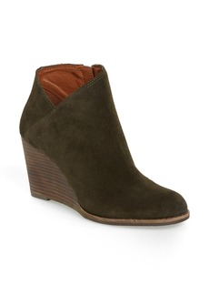 Lucky Brand 'Yakeena' Zip Wedge Bootie (Women)