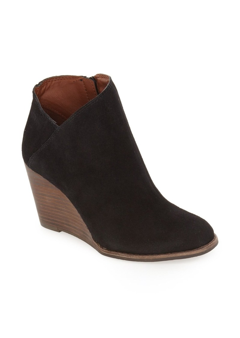04c3306ba03 On Sale today! Lucky Brand Lucky Brand  Yakeena  Zip Wedge Bootie ...