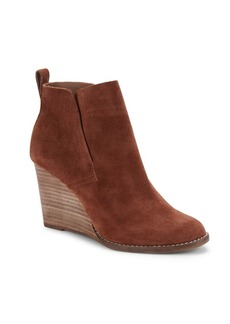 Lucky Brand Yoniana Leather Wedge Boots