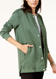 Lucky Brand Zip-Detail Bomber Jacket