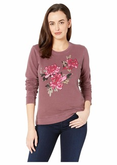 Lucky Brand Lucky Floral Pullover Sweatshirt