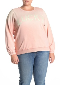 Lucky Brand Lucky Logo Washed Sweatshirt (Plus Size)