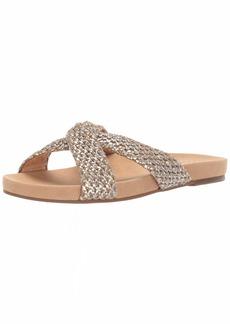 Lucky Brand Lucky Women's FYNNA Flat Slide Sandal Natural/silv  M US