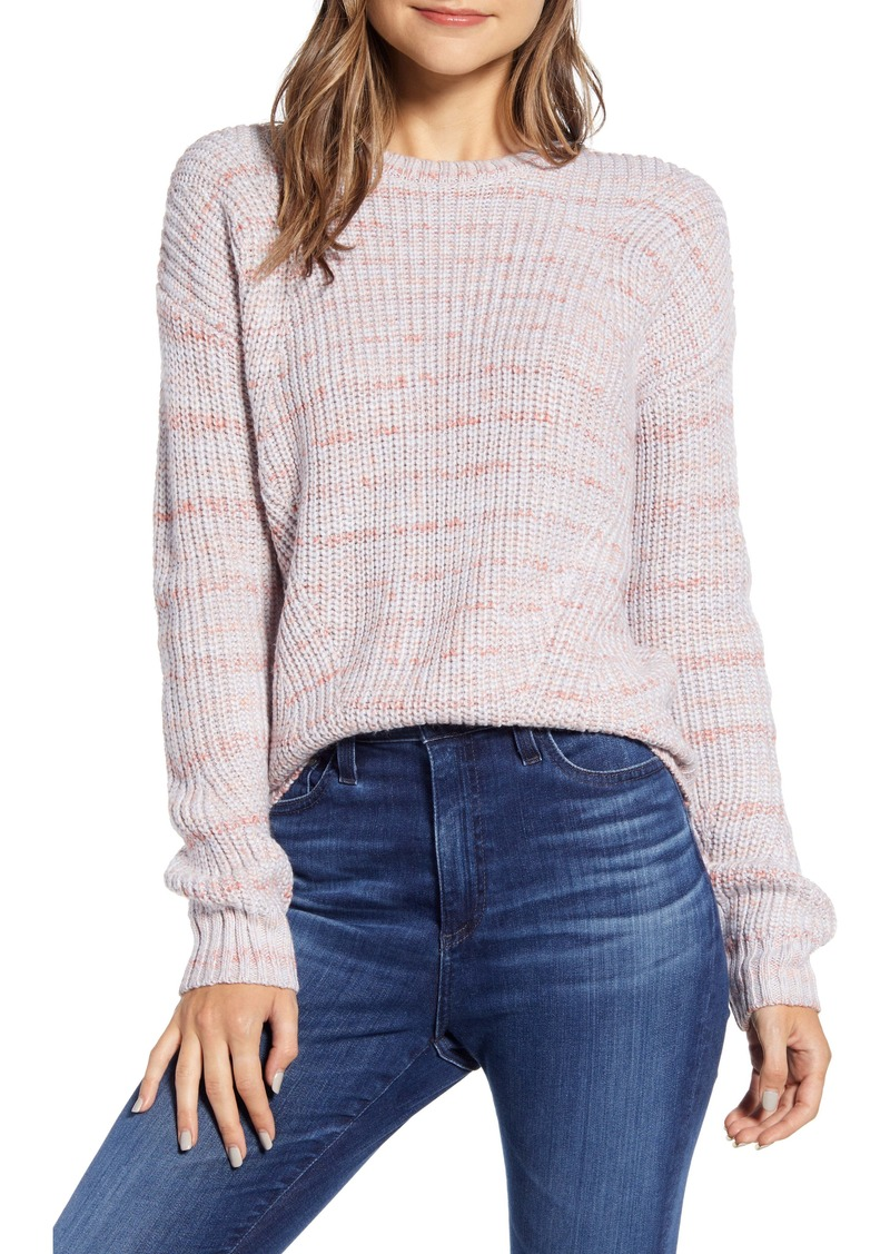 Lucky Brand Lukcy Brand Marled Crew Neck Sweater