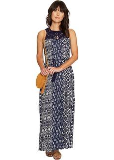 Lucky Brand Macrame Yoke Dress