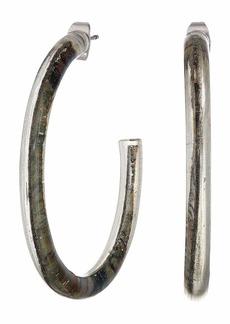 Lucky Brand Marble Hoop Earrings