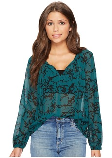 Lucky Brand Marble Printed Top