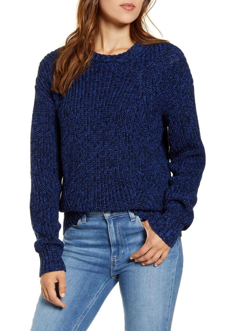 Lucky Brand Marl Crew Neck Knit Sweater