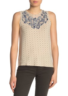 Lucky Brand Applique Yoke Tank
