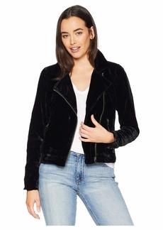Lucky Brand Michelle Velvet Moto Jacket