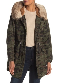 Lucky Brand Missy Camo Faux Fur Parka Jacket
