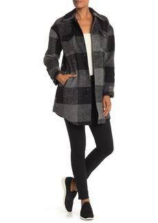 Lucky Brand Missy Plaid Elongated Plaid Jacket