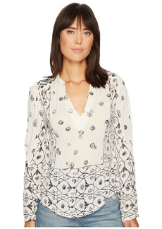 Lucky Brand Mix Geo Peasant Top