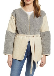 Lucky Brand Mixed Faux Shearling Jacket