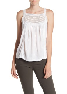 Lucky Brand Mixed Media Tank Top