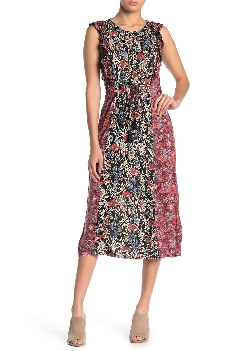 Lucky Brand Mixed Print Floral Sleeveless Dress