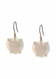 Lucky Brand Mother-of-Pearl Heart Drop Earrings