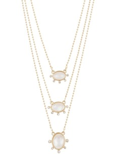 Lucky Brand Mother of Pearl Layered Necklace