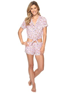 Lucky Brand Notch Collar Short Pajama Set