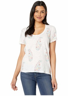 Lucky Brand Paisley Floral Tee