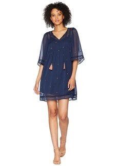 Lucky Brand Peasant Tassel Dress