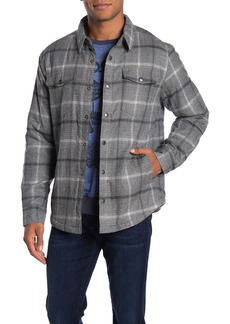 Lucky Brand Plaid Faux Fur Lined Shirt Jacket