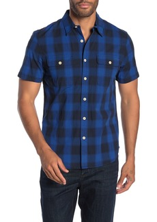 Lucky Brand Plaid Short Sleeve Stretch Fit Shirt