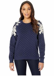 Lucky Brand Polka Dot Chenille Sweatshirt