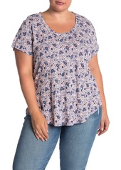 Lucky Brand Prairie Paisley Scoop T-Shirt (Plus Size)