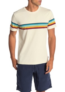 Lucky Brand Printed Chest Striped T-Shirt