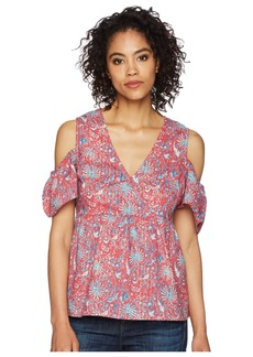 Lucky Brand Printed Cold Shoulder Top