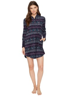 Lucky Brand Printed Microfleece Hooded Lounger