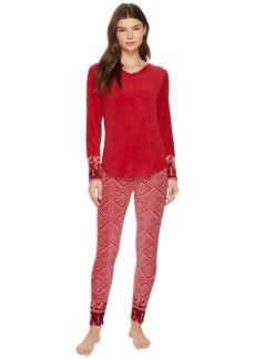 Lucky Brand Printed Microfleece Pajama Set