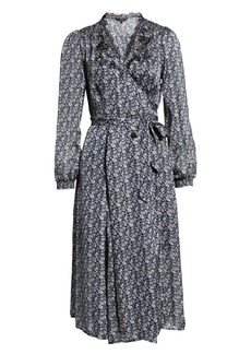 Lucky Brand Printed Midi Wrap Dress