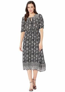 Lucky Brand Printed Peasant Dress