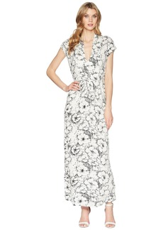Lucky Brand Printed Rib Dress