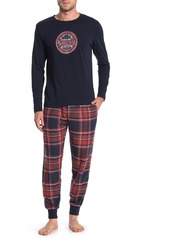 Lucky Brand Printed Shirt & Joggers 2-Piece Pajama Set