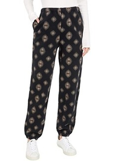 Lucky Brand Printed Sueded Terry Pants