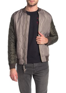 Lucky Brand Quilted Colorblock Bomber Jacket