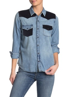 Lucky Brand Remade Western Denim Shirt