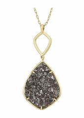 Lucky Brand Reversible and Druzy Diamond Pendant Necklace