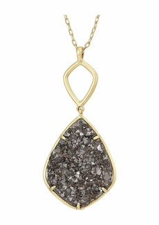 Lucky Brand Reversible and Druzy Diamond Pendant Necklace