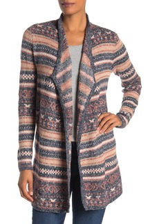 Lucky Brand Reversible Jacquard Third Piece Cardigan