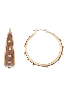 Lucky Brand Rivet Studded Hoops