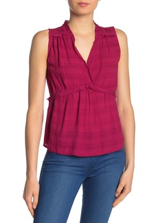 Lucky Brand Romantic Ruffle Sleeveless Top