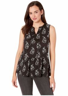 Lucky Brand Ruffle Print Sleeveless Top