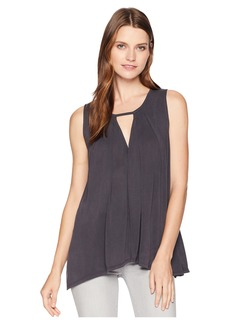 Lucky Brand Sand Wash Cut Out Tunic Top