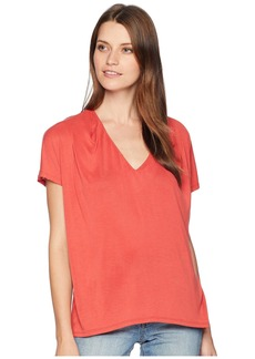Lucky Brand Sandwash Pleated Top