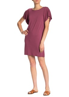 Lucky Brand Ruffle Sleeve Tie Back Dress