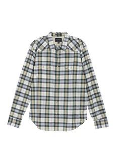 Lucky Brand Santa Fe Plaid Western Classic Fit Shirt